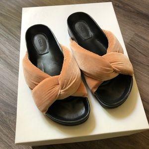 Chloe velvet knot slipper sandals